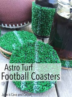 Astro Turf Football Coaster Planning a game day party? Make a set of Astro Turf Football Coasters for your next football watching party! #ScoreAtCVS #ad