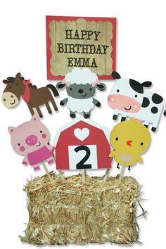 Corral granja fiesta centro de mesa cumpleaños temáticos, cumpleaños granja…
