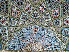 ceiling design from Nasīr al-Mulk Mosque or Pink Mosque in Shiraz, Iran