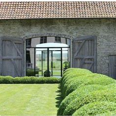 Possible doors for threshing barn Contemporary Architecture, Architecture Details, Interior Architecture, Barn Conversion Exterior, Barn Renovation, Belgian Style, Stone Houses, My Dream Home, Beautiful Homes