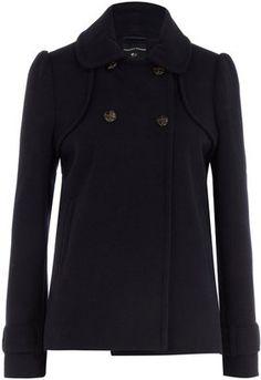 ShopStyle: Navy swing coat