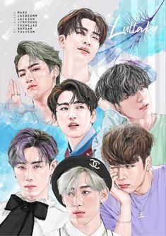 รูปวาด the new aer Got7 Youngjae, Jaebum Got7, Got7 Jinyoung, Markson Got7, Jackson Wang, Got7 Jackson, Got 7 Wallpaper, Cartoon Wallpaper, Got7 Fanart