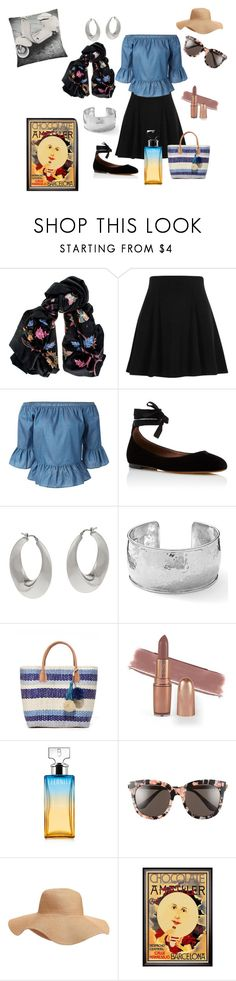 """""""Let's Go!"""" by denise-grimes ❤ liked on Polyvore featuring Black, River Island, Tabitha Simmons, VicenzaSilver, Ippolita, Hat Attack, Calvin Klein, Gentle Monster, Old Navy and Bloomingville"""