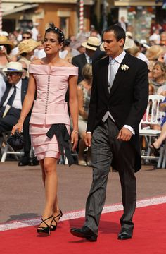 July 2, 2011 - Charlotte Casiraghi & Alex Dellal at the wedding of Prince Albert and Charlene Wittstock