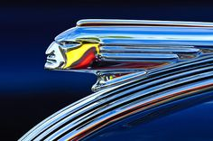 1939 Pontiac Silver Streak Chief Hood Ornament - Jill Reger - Photographic prints for sale
