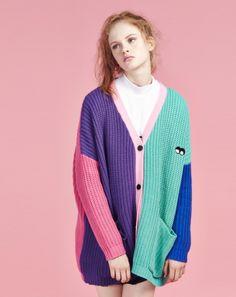 Lazy Oaf Colour Block Cardigan