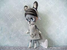OOAK petite Blythe Wolf girl Isidora