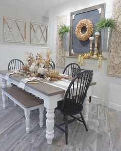 Dining Room // Fall tablescape