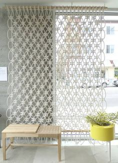 macramé curtain. I could totally do this!