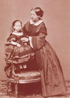 Queen Victoria with Princess Beatrice c.1861