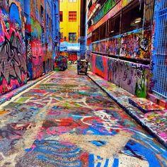 Hoiser Lane Graffiti. Melbourne Austrailia. A must see.