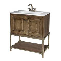 Shop Bestview 31 In X 18 In Coffee Brown Integral Single Sink Bathroom  Vanity
