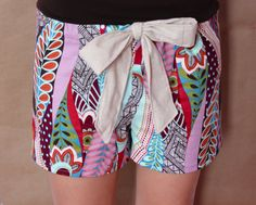DIY super-cute pajama shorts. The pattern can be easily made into pj pants for the cooler weather!