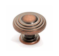 Dynasty Hardware K 3118 AC Newport Cabinet Knob Antique Copper