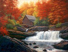 Glade Creek Grist Mill - Charles White - World-Wide-Art.com