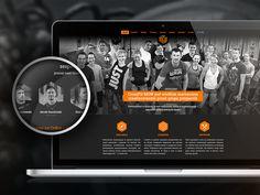 CrossFit MGW landing page by Michał Powichrowski #landingpage #webdesign #onepager #bootstrap