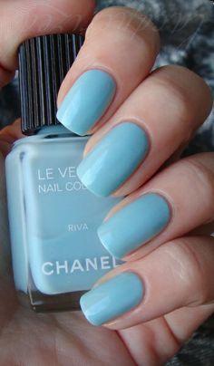 Chanel Blue nail polish