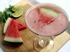 Watermelon Cilantro Margaritas
