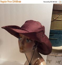20% OFF SALE Vintage Oriental Trading Co. brown Fishing Outdoor Hat