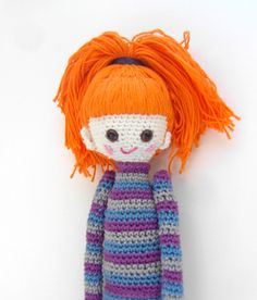 Crochet Doll Pattern Bel Cute Amigurumi Doll door daniandbel