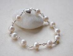 Classic Freshwater Pearl Bracelet, $38.00
