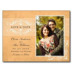 Orange Photo Save the Dates