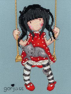 Ruby (XG7)  Cross stitch kit designed by Bothy Threads featuring the popular 'Gorjuss' character. One of eight new designs.  Thekit contains 14 hpigrey/blue Zweigart Aida, needles, pre-sorted stranded cottons , special threads, beadsand a heart button. There are full instructions and large clear stitch diagrams. This kit uses full cross stitch and back stitch.  Size measures: 16cm x 21cm.  RRP &po...