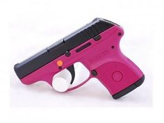 a hot pink ruger. i think rugers are great guns, but the pink kind of defeats the badass-ness of having the gun in the first place. just my opinion. Lcp 380, 380 Acp, Pink Guns, Ruger Lcp, Custom Glock, Guns And Ammo, Concealed Carry, Self Defense, Girls Be Like