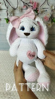 Easter bunny crochet pattern, crochet bunny pattern, personalized bunny Amigurumi pattern – Knitting For Beginners Crochet Toys Patterns, Crochet Patterns For Beginners, Knitting For Beginners, Amigurumi Patterns, Stuffed Toys Patterns, Knitting Patterns, Easter Bunny Crochet Pattern, Crochet Baby, Crochet Sheep Free Pattern