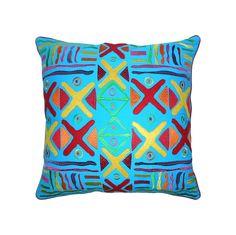 Capa de Almofada Étnica Azul | A Loja do Gato Preto | #alojadogatopreto | #shoponline