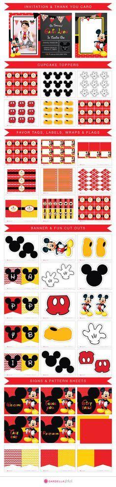 Mickey mouse Invitation, Mickey mouse invite, Mickey invitation, Mickey Invite…