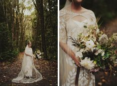 Kristen Marie Photography :: Seattle, Portland and International Destination Wedding and Engagement Photographer - :: - A Pacific Northwest Forest Elopement and reception at home | Homestead Seattle