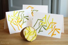 make more with my hands.  DIY: Potato Stamp Cards