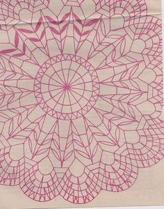 Handcraft Blog: Bobbin lace pattern