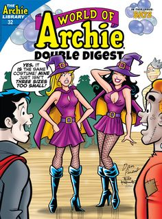 """Read """"World of Archie Double Digest by Archie Superstars available from Rakuten Kobo. Meet your new neighbor, Archie! When a vampire vixen moves into a """"haunted"""" property near Archies house, strange things . Archie Comics Characters, Archie Comic Books, Comic Book Characters, Archie Comics Veronica, Archie Betty And Veronica, Super Easy Halloween Costumes, Easy Costumes, Archie Comics Riverdale, Pop Art"""