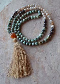 Hey, I found this really awesome Etsy listing at https://www.etsy.com/listing/230298439/108-bead-mala-japa-abundance-new