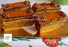 Dobos torta, valódi dobos krémmel és jó sok karamellel a tetején! - Egyszerű Gyors Receptek Tiramisu, Baking Recipes, Fondant, Waffles, Sweets, Dinner, Breakfast, Cake, Ethnic Recipes