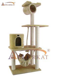 158 cm high Cat Activity Centre/ Cat Scratcher / Cat Tree Armarkat AC6202B in beige