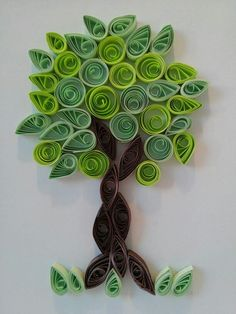 Tree Neli Quilling, Paper Quilling Cards, Quilling Work, Paper Quilling Tutorial, Paper Quilling Flowers, Paper Quilling Jewelry, Origami And Quilling, Paper Quilling Designs, Quilling Craft