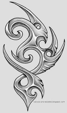 Tattoos and doodles: Bio tribal something Tribal Tattoo Designs, Tribal Animal Tattoos, Tribal Drawings, Tribal Dragon Tattoos, Cool Art Drawings, Pencil Art Drawings, Tattoo Sleeve Designs, Tattoo Drawings, Art Sketches