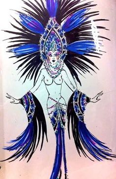 My Finale Costume! Moulin Rouge Costumes, Theatre Costumes, Girl Costumes, Showgirl Costume, Vegas Showgirl, Space Fashion, Fashion Art, Fashion Sketches, Fashion Illustrations