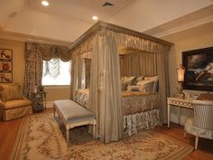 Gorgeous bedroom in Alpine 29 million dollar mansion
