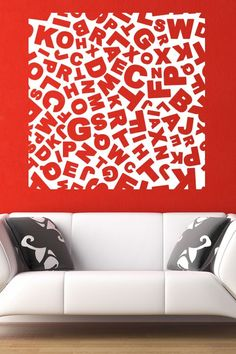 Funky Alphabets Wall Sticker. The abstract alphabet wall art adds a fun, amusing and creative element on the wall decors of your homes. This wall design is best suited for kid's rooms and playrooms where kids can learn in an innovating and entertaining manner.  http://walliv.com/alphabet-abstract-2-wall-sticker-wall-decal