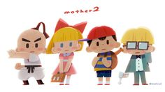 Earthbound (mother) 2016 fanart on Behance Character Illustration, Graphic Illustration, Mother 3, Nintendo, Character Design References, Game Art, New Art, Illustrations Posters, Chibi
