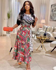 Ankara skirt you will love Latest Ankara Styles, Latest African Fashion Dresses, African Print Dresses, African Print Fashion, Ankara Fashion, Ankara Skirt And Blouse, Pleated Skirt, Ankara Dress, Dress Skirt
