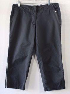Nike Black White Stripe Running Training Capri Pants 214730 019-XLarge XL 16-18…