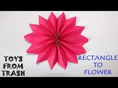 Rectangle to flower