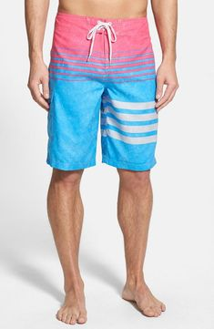 Pink and blue board shorts for summer   O'Neill