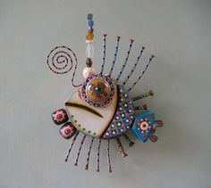 Twisted Fish 3 Original Found Object Sculpture by FigJamStudio, $65.00