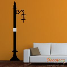 Street Light Switch Decal - A wall decal that makes a light switch more interesting! Adjustable to whatever height your room is. www.decaleco.com #bedroom_wall_stickers #light_switch_cover #switch_wall_decal #vinyl_decals #wall_applique